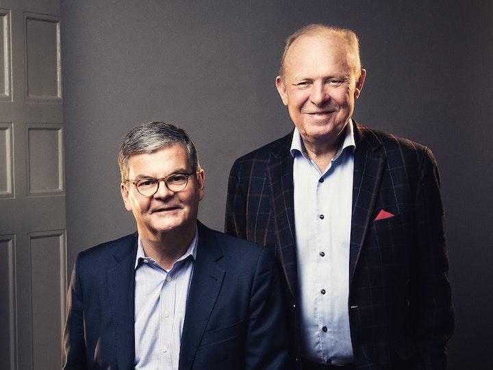 Göran Espelund och Anders Lannebo, grundare av Lannebo Fonder